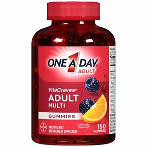 One A Day Vitacraves Regular Gummies, 150 Count
