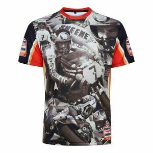 Barry Sheene Legend T Shirt Printed All Over MotoGP SuperBike BSB Suzuki No. 7