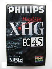 Philips XHG EC45 VHSC videocamera cassetta rivestimento extra-Nuovo Di Zecca Sigillato