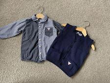 Baby Boy 18 Months Shirt Waistcoat Tank Top Designer Guess