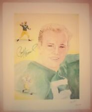 PAUL HORNUNG AUTHENTIC Signed Autographed PACKERS NFL 11x14 LITHOGRAPH JSA PSA