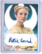 2017 Topps Star Wars The Last Jedi Billie Lourd as 'Kaydel' Auto Autograph