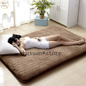 5CM Thickness Mattress Flannel Breathable Bed Mat Single Non-slip Tatami Bedroom