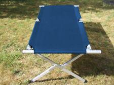 XXL Campingbett EXPLORER Feldbett 210 x 72 x 45 cm blau belastbar bis 250 kg Alu