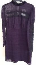 Topshop, Lace Dress, size 12. Plum and Black, Lined, Brand New with tags.