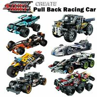 Pull Back Technic Car Racer MOC Truck DIY building blocks kids toys super car