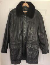Vintage Men's Ventura Lambskin Coat Jacket Removable Liner Mink Collar Size L