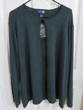 Neuf pour Femme Venezia Jean Co. Vert Foncé Cardigan Bouton Pull Grande Taille