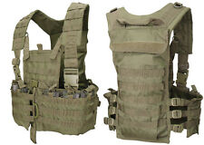 CONDOR Airsoft Molle Tactic Chest Rig Vest OD Harness Hydration 5.56 Mag Pockets