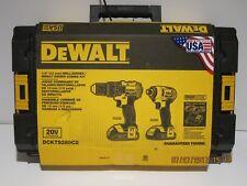 DEWALT DCKTS280C2 20V MAX LITH-ION Cordless Drill DRVR/Impact DRVR SET NISB FS