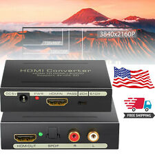 4K*2K HDMI to HDMI & Optical SPDIF RCA Analog Audio Extractor L/R Converter 3D