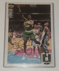 1994 Shawn Kemp Signed Upper Deck Collectors Choice Card