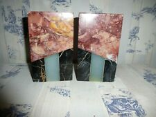 More details for a pair of french art deco mixed marble garniture/bookends