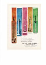 VINTAGE 1961 IRVING TRUST COMPANY WALL STREET EMPIRE STATE BUILDING AD PRINT
