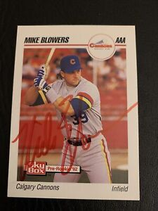 1992 SkyBox AAA #23 Mike Blowers Auto Vintage Collectible MLB