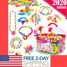 Girls Toy-Kids Jewelry Making Kit Art and Craft Kits Bracelets Necklace Hairband