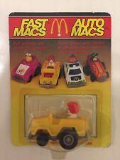 Vintage 1985 McDonald's Toy Ronald McDonald Fast Macs Canadian Variant NIP