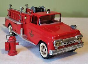 Tonka Toys Ford Cab SUBURBAN PUMPER FIRE TRUCK 60's V RARE NICE 100% ORIGINAL
