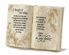 "Jozie B 246200 ""I Thought of You Today"" In Memory Book Shape Plaque"