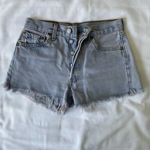 VINTAGE LEVI 501 (MADE IN USA) GIRL'S WOMEN'S CUT OFF SHORTS