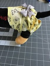 Yellow Grey Butterfly Exchangeable Female Dog Diaper Panty Carols Crate Covers