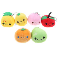 1xFruit Plush Toy Mini Cute Soft Stuffed Toy Keychain Small Pendant Kids Gift_ti