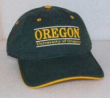 New OREGON DUCKS NCAA The Game Cap SPLIT BAR Green Gold 100% COTTON Adjustable