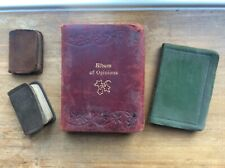 1920's Small Leather Miniature Collectible Books x 4 Leather/Suede Leather