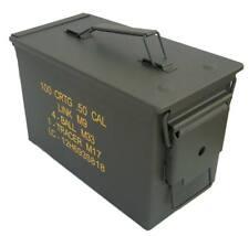 Caja municion metálica original Metal en color verde militar M2A1 Cal. 50