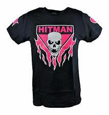 Bret Hart Ring Series Black Pink Skull Mens T-shirt