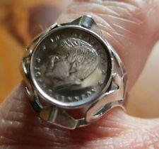 "Rar Damen Ring ""In memoriam John F. Kennedy"" Münzring 925 Silber Rg 52/12 variab"