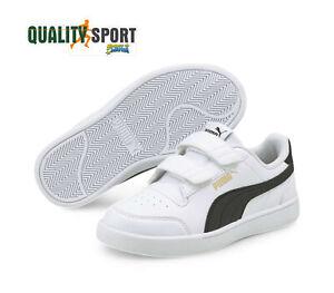 Puma Shuffle Bianco Nero Scarpe Shoes Bambino Sportive Sneakers 375689 02