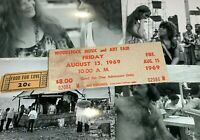 WOODSTOCK 1969 FOOD FOR LOVE CONCESSION TICKET COUPON JIMI HENDRIX JANIS JOPLIN