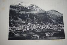 SUISSE DAVOS GRAVURE PHOTO -ANTIQUE  PRINT