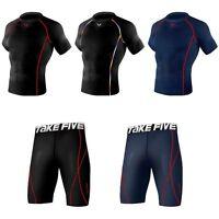 Takefive_Men's Compression Shorts sleeve Shorts Skin tights Sportswear Soccer