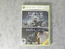 BUNDLE 2 GIOCHI IN 1 HALO WARS + HALO 3 - MICROSOFT XBOX 360 ITALIANO COME NUOVO