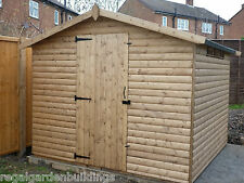 10 x 8 GOOD QUALITY WOODEN T&G LOGLAP SECURITY GARDEN STORAGE SHED