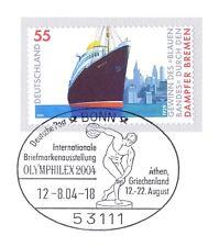 BRD 2004: Dampfer Bremen! Selbstklebende Nr. 2417 mit Bonner Stempel! 1A 6406