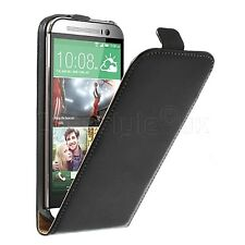 HTC 1 One M9 M8 M7 Mobile Phone Genuine Leather Flip Case Protective Cover New