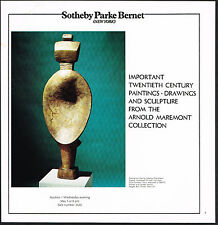 1974 Vintage Giacometti Femme-Cuillere Sculpture Art Sotheby Photo Print Ad