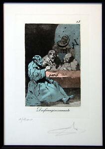 """Salvador Dali """"Caprices De Goya"""" Authentic Complete 80 piece Suite Framed"""