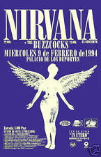 Grunge: Nirvana & BuzzCocks Italian Concert Poster 1994 12x18