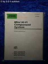 Sony Bedienungsanleitung MHC BX9 /DX9 /BX7 /DX7 /BX5 /DX5 (#2946)