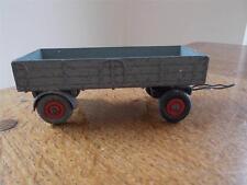 "Vintage Dinky Toys Grey Farm Trailer Diecast Tinplate Meccano 4.25"""