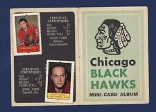 1969-70 O-Pee-Chee MINI-CARD ALBUM Chicago Blackhawks (with 5 stamps) HULL!!