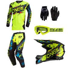 ONeal Element Villain motocross dirt bike gear Helmet Jersey Pants Gloves combo
