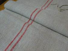 Antique European Feed Sack GRAIN SACK Red Stripe # 9172