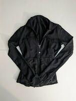Lululemon Women's Running Yoga Fitness jacket full zip Black sz Small