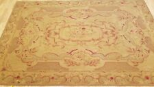 6 x 9 Hand woven French Aubusson Weave 100% wool Area rug