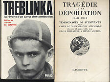 Treblinka françaises à Ravensbruck terre sera pure tragédie deportation 4 LIVRES